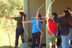 High Sierra Outdoor Institute Christian Outdoor Education Archery Activity