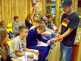 Christian outdoor education students see animals up close!